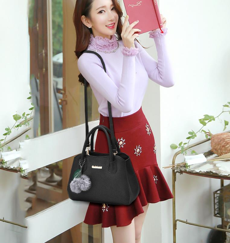 Free Shipping Women Shoulder Bags Medium Leather Handbags M210-2