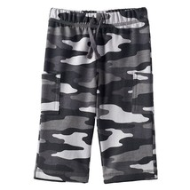 NWT Jumping Beans Black and Gray French Terry Camo Cargo Pants Size 6 mo... - $6.19