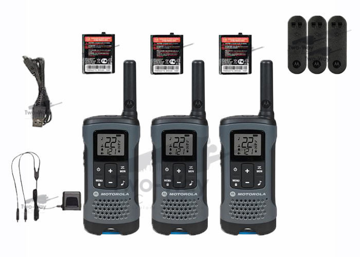 Motorola Talkabout T200TP Walkie Talkie 3 Pack Set Two Way Radio FREE SHIPPING - Walkie Talkies ...