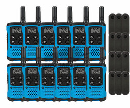Motorola Talkabout T100TP Walkie Talkie 9 Pack Set 16 Mile Two Way Radios Blue