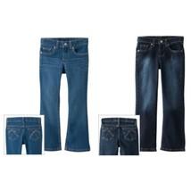 NWT $52 Lot of 2 Sonoma Girls Bootcut Adjustable Waist Jeans Size 4 Slim School - $18.50