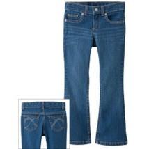 NWT $26 Sonoma Girls Bootcut Adjustable Waist Stretch Jeans Size 5 Slim School - $12.13