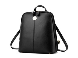 3 Color Medium Leather Backpacks Shoulder Bags School Backpacks M216-1 - $39.99
