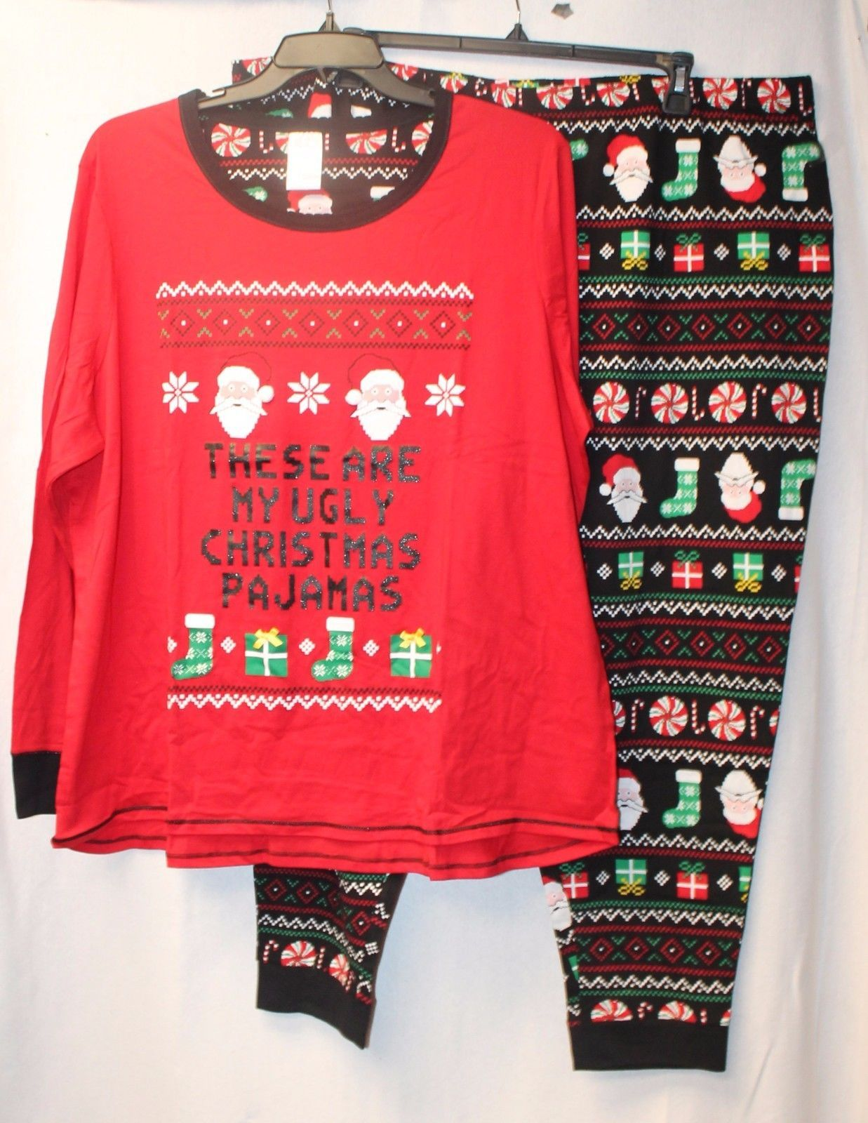 S l1600. S l1600. Previous. NEW WOMENS PLUS SIZE 3X 2PC THESE ARE MY UGLY CHRISTMAS  PAJAMAS PAJAMA SET PJs f39f307b4