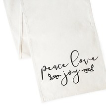 The Cotton & Canvas Co. Peace Love Joy Christmas Table Runner - $19.99