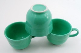 3 Clean EUC Homer Laughlin Fiesta Dinnerware Fiestaware Light Green Coffee Cups image 6