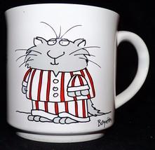 Vintage Sandra Boynton Kitty Cat The Cats Pajamas 12 ounce Coffee Mug Cup - $29.99