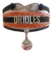 Baltimore Orioles Baseball Fan Shop Infinity Bracelet Jewelry - $11.99