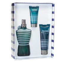Jean Paul Gaultier Le Male Cologne 4.2 Oz Eau De Toilette Spray 3 Pcs Gift Set  image 1