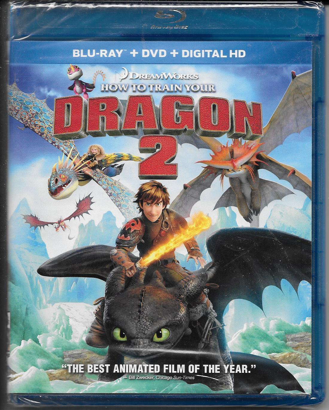 How to Train Your Dragon 2 (Blu-ray/DVD/Digital HD, 2014) NEW