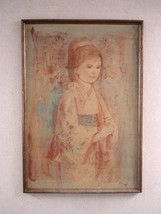 Edna Hibel Painting Unique Litho and Oil title OBI Signed Art Home Decor... - $6,800.00