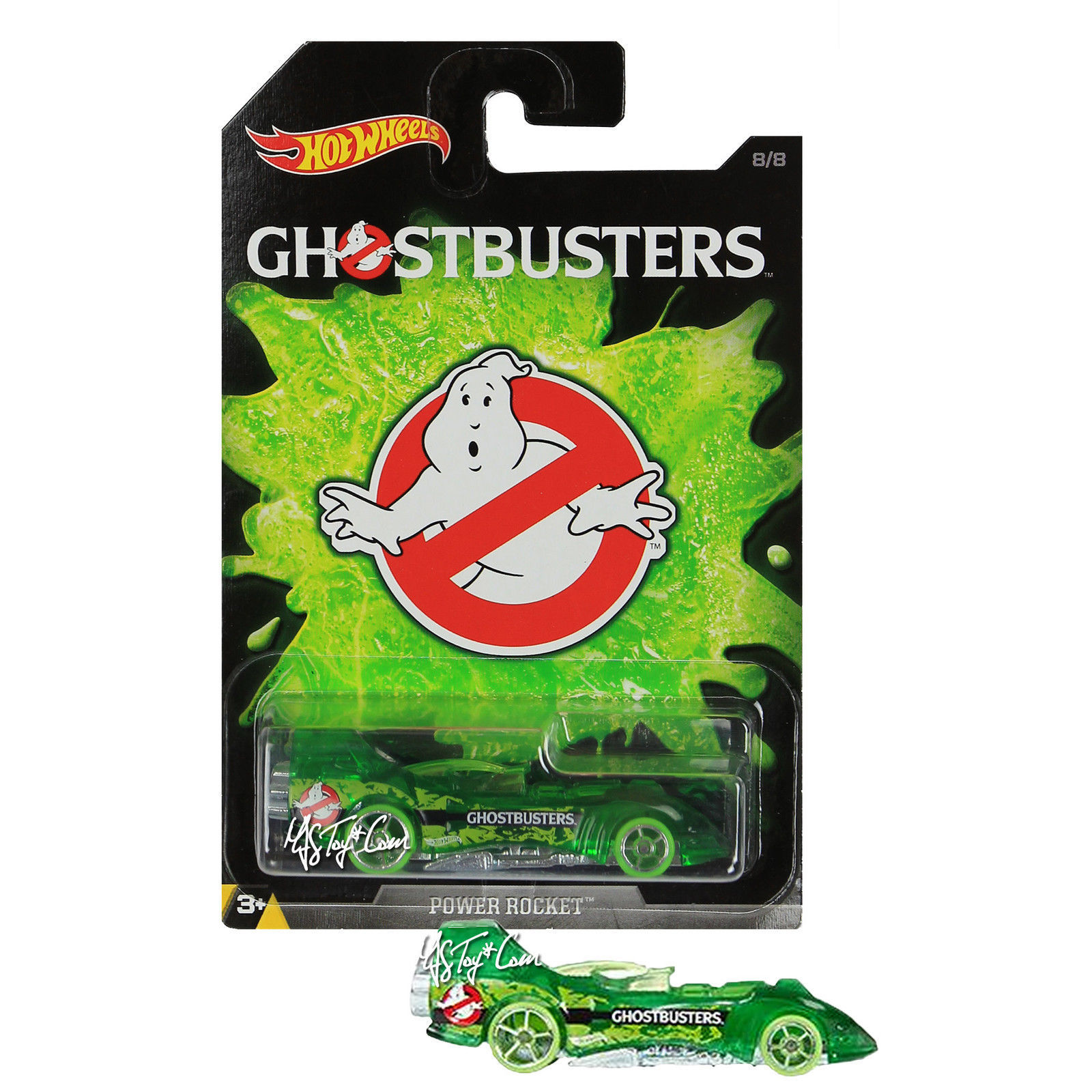 NEW 2016 Hot Wheels 1:64 Die Cast Car GHOSTBUSTERS Exclusive Power Rocket 8/8