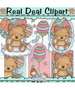 Baby Girl Bear Clipart - $1.25