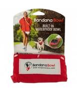 Bandana Bowl Built-In Waterproof Pet Bowl (Large or Small) - $7.99+