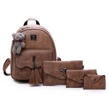Women Backpack Shoulder Bag Handbag Purse Set Faux Leather Fashion Lady ... - $38.94