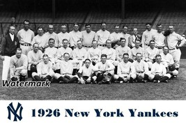 MLB 1926 New York Yankees Team Picture Black & White 8 X 12 Photo Picture - $7.99