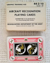 Army Aircraft Recognition Playing Cards 1979 Graphic Training Aid 44-2-10 - $7.71