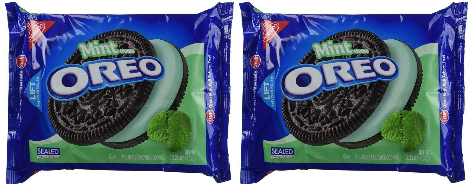 Oreo Chocolate & Cool Mint Creme Sandwich Cookies 15.25 Oz