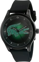 Lacoste Unisex 2000917 - VICTORIA Green Face/Black Band Watch - $208.55