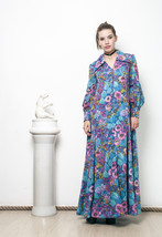 70s vintage long sleeved hippie dress - $68.04