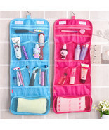 Portable Hanging Travel Foldable Cosmetic Makeup Case Wash Toiletry Stor... - ₨313.51 INR