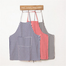 Vintage Stripe Garden Apron With Pocket Baking Pinafore Kitchen Cooking ... - $4.49
