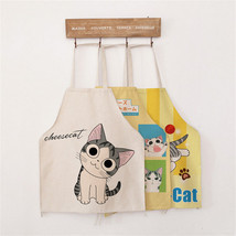 Funny Cartoon Cat Cotton Linen Apron Party Deco... - $3.99 - $7.38