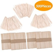 Senkary 500 Pieces Wooden Wax Sticks Waxing Sticks Wood Wax Applicator Sticks fo image 10