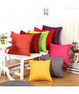 45x45cm Home Decor Cotton Linen Solid Color Cushion Cover Pillow Case - $4.09+