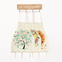 Creative Colorful Tree Cotton Linen Aprons Adult Chidren Kitchen Housewo... - $4.49+