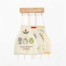 Cute Cartoon Owl Cotton Linen Apron Creative Adult Child Kitchen Housewo... - $5.76+