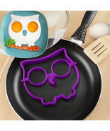 2016 Funny Creative Breakfast Silicone Owl Animal Fried Egg Mold Egg Rin... - £1.40 GBP