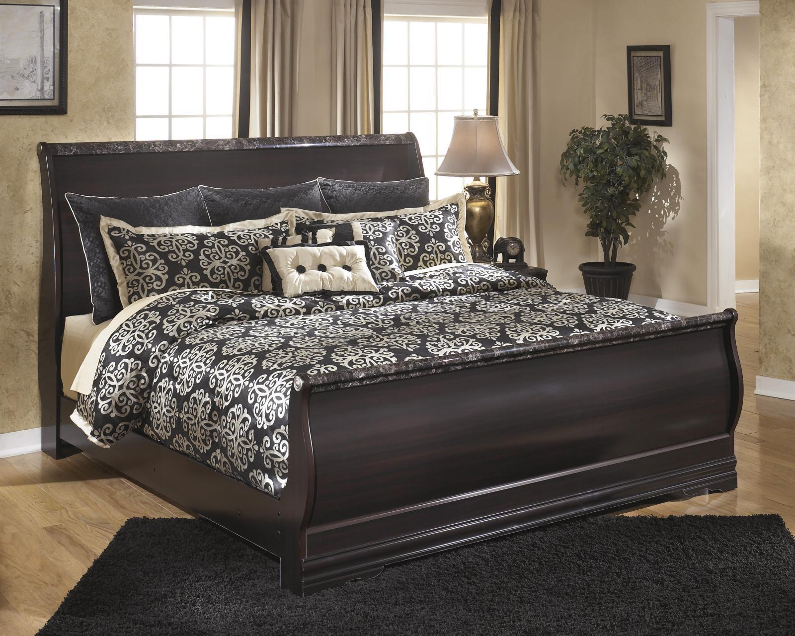ashley esmarelda b179 king size sleigh bedroom set 2 night stands traditional bedroom sets. Black Bedroom Furniture Sets. Home Design Ideas