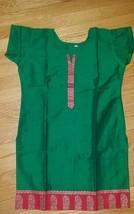 Women's Cotton Silk Blend Dark Green Tunic Shirt Blouse Top  Size M  NWOT - $14.36