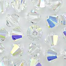 8mm Crystal AB Swarovski Xilion Beads 5328, 48 clear rainbow - $14.00