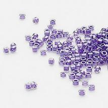 Miyuki Delicas 11/0, Shim Purple 906, 50g bag of delica beads - $14.50