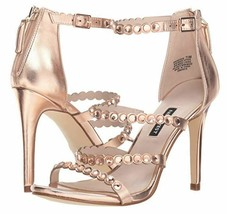 Nine West Vandison Dress Sandals Sz 8 Womens Pink Strappy High Heel Shoes - $36.00