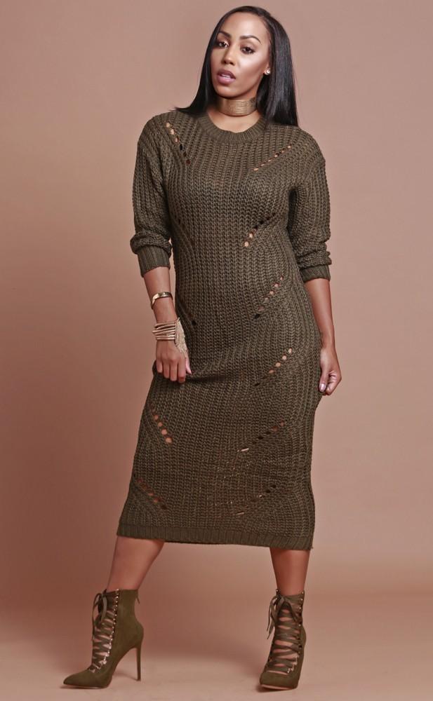 Winter Love Sweater Dress