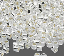 Miyuki Delicas 11/0, S/L Crystal 41, 50g bag of glass delica beads - $20.25