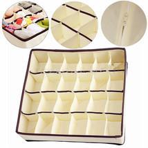 24 Cell Foldable Closet Drawer Organizer Divider For Underwear Tie Bra S... - $9.90