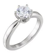 Round Diamond Solitaire Engagement Ring, 14k White Gold (0.5 Ct, D , VS1... - $2,055.94