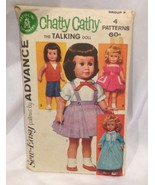 Advance Mattel Chatty Cathy Doll Pattern Group F Number 2897 - $9.75