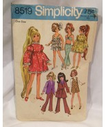 "Simplicity 17 1/2"" Chrissy Teen Fashion Doll Pattern Number 8519 - $9.75"