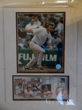 2006 Johnny Damon Photo cover stamp art USPS New York Yankees 12 x 16 Ba... - $12.82