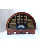 VTG Cariole AM/FM Radio OTR-98 Replica Repro Cathedral Style wood veneer... - $74.25
