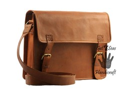 Messenger bag for women leather men's shoulder laptop satchel men genuin... - $44.88