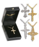 "CRYSTAL 1"" CROSS IN GIFT BOX - $9.95+"