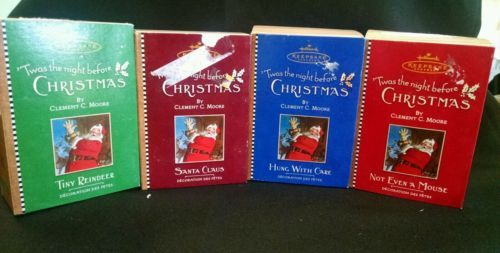 Primary image for Twas The Night before Christmas Hallmark Keepsake Ornaments Vol 1 to 4