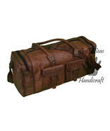 Weekender bag men's leather travel overnight bag women luggage gym men bags - $102.23
