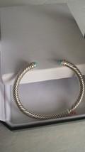 David Yurman Cable Classics Bracelet with Turquoise and Diamonds - $275.00
